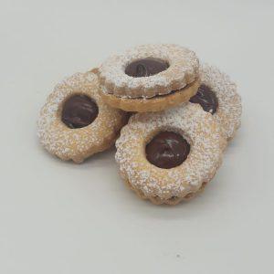 Occhi di bue con crema nocciole gluten free